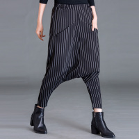 Pants 2018 New Ladies Casual Loose Pants Harem Large Crotch Were Thin Collapse Pant Tide