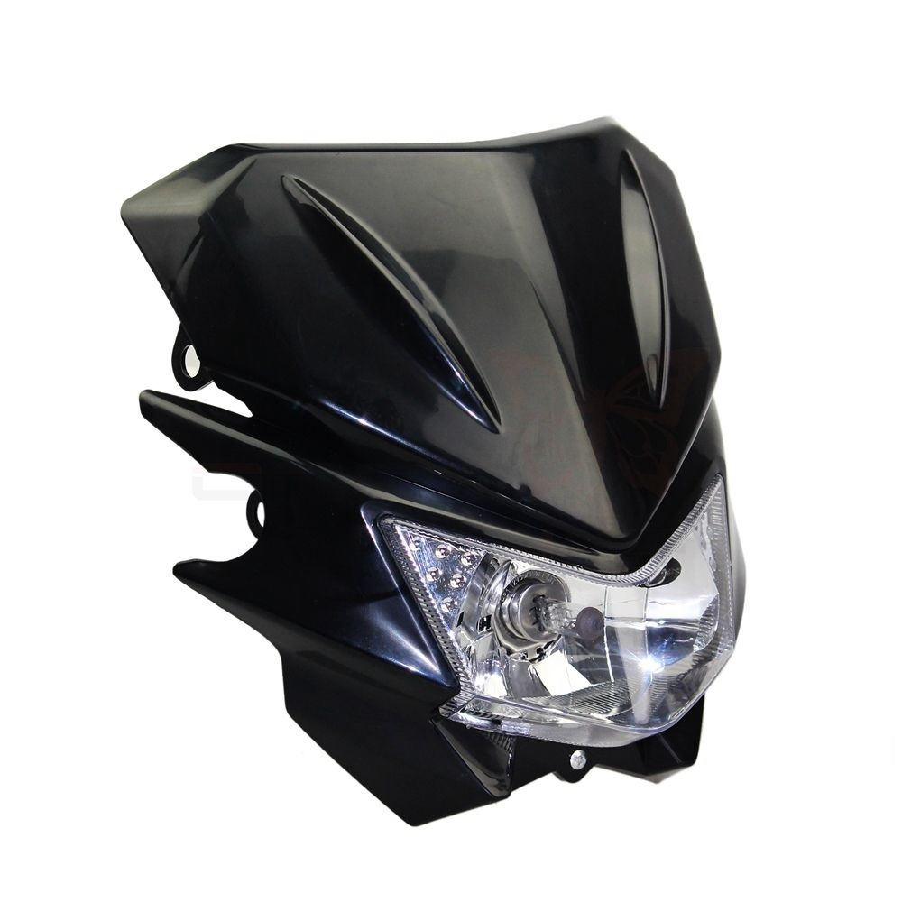 12V 35W Universal Headlight Headlamp Fairing kit For KAWASAKI YAMAHA SUZUKI HONDA KTM Dirt Bike Motorcycle