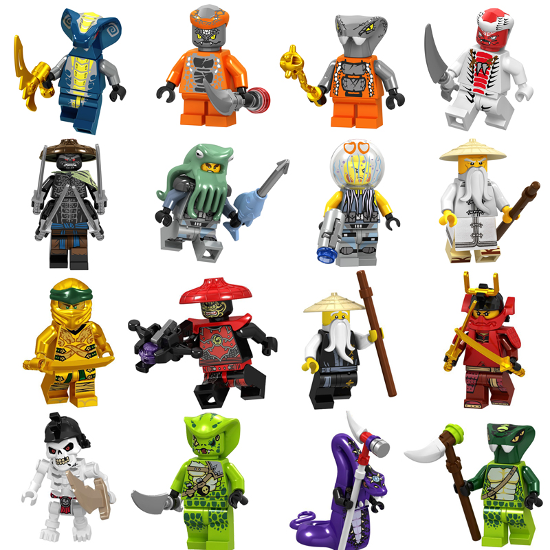 Single Sale Ninja Heroes Master Wu Harumi Samurai X Cole Zane With Weapons Ninjagoes Figures Building Blocks Toys For Children