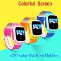 Crianças smart watch q60 gps gsm gprs sos chamada smartwatch rastreador localizador anti-perdido do monitor remoto presente de natal para crianças