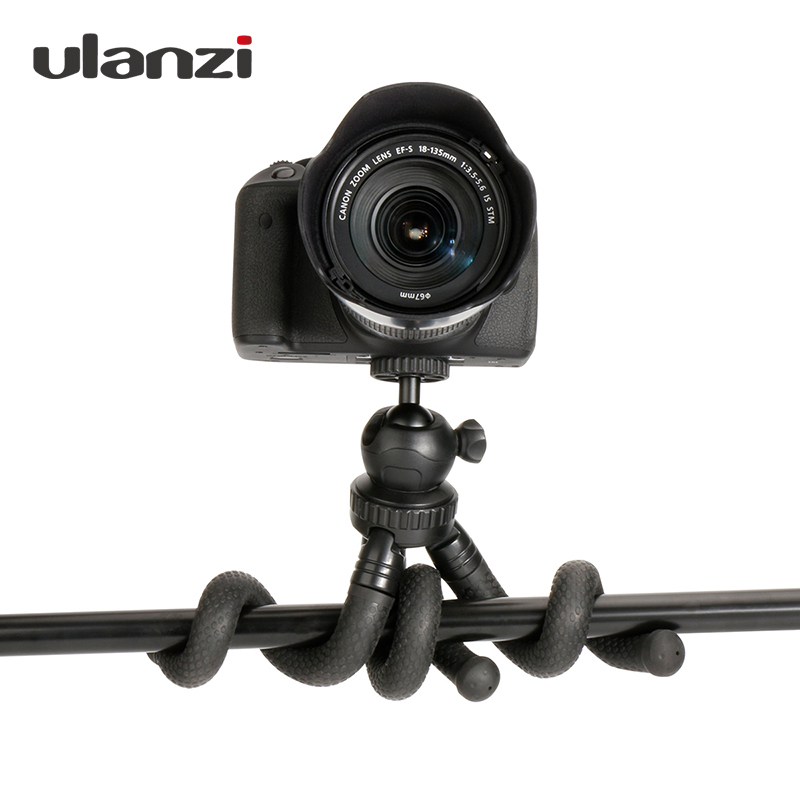 Travel Outdoor Octopus Tripod Mini Bracket Stand Flexible Tripod with Ballhead Phone Mount for Smartphone DSLR Camera Gopro