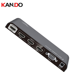 301-V2.0 con control remoto 1X3 divisor HDMI 4K x 2K @ 60Hz y 3D HDMI video Splitter 3 canales HDMI splitter Converter 3 puertos HDMI