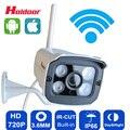 Wi-fi câmera de 720 p ip hd suporte a cartão micro sd ip66 à prova d' água Segurança CCTV Camara P2P Infravermelho Ao Ar Livre Sem Fio IR Rede CAM