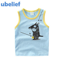 UBELIEF Child Summer set Children's vest Kids Boy Camisole Clothe Baby Boys Solid Mouse Waistcoat baby boys Sleeveless blouses