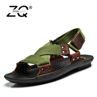 Summer Beach Shoes Sandals 2017 Fashion Designers Men Sandals Brand Leather Slippers For Men Zapatos Sandalias