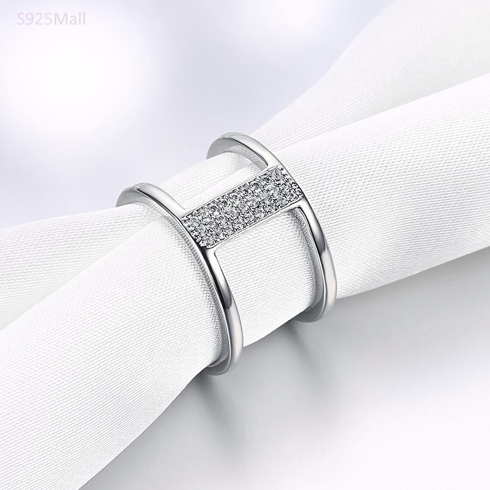 Новый Модные украшения Открытое кольцо выгравировано имя с серебряным покрытием цвета розового золота-цвет Кольца для женщин CZ Романтичес...