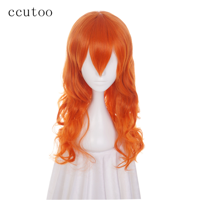 ccutoo 65cm Nami Orange Curly Long M Shape Hairstyles Synthetic Wig For  Women s Cosplay Wig Heat Resistance Party Costume Wigs df1f9d378d