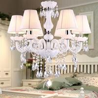 Nova moderna branco lustres de cristal para sala estar quarto lâmpada interior k9 lustres de teto crystal chandelier white crystal chandelier ceiling chandelier -