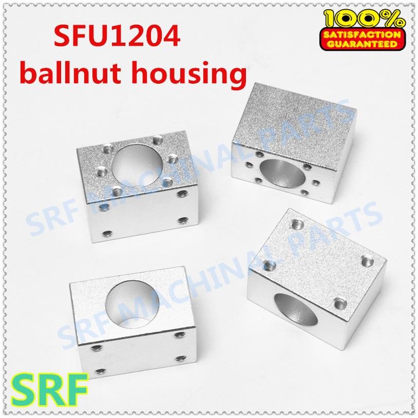 Free shipping 4pcs/lot Aluminium Alloy 1204 Ball nut housing bracket holder for SFU1204 Ball screwFree shipping 4pcs/lot Aluminium Alloy 1204 Ball nut housing bracket holder for SFU1204 Ball screw