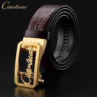 Ciartuar Famous Brand Belt Men Top Quality Genuine Luxury Genuine Leather Belt For Men Strap Metal