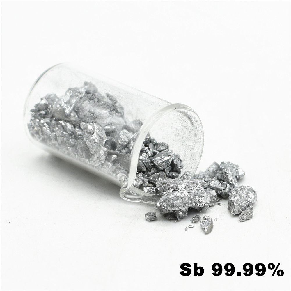 99.99% Antimony Grain High Purity Sb Metal For Experiment DIY Simple Substance Element Collection 100g