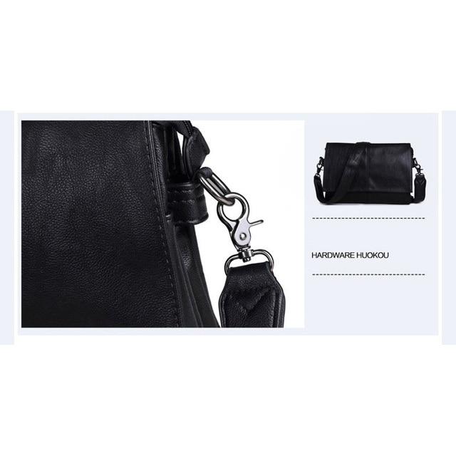 MAGIC UNION Men Leather Shoulder Bag Envelope Style Bag Large-capacity Messenger Bags High Quality Men's Leather Handbags 5