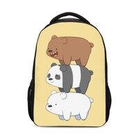 We Bare Bears Anime Print Kids Funny Pack Men Women Packs Boys Girls School Shoulder Bags Bagpack Mochila Mujer Bolsa Escolar