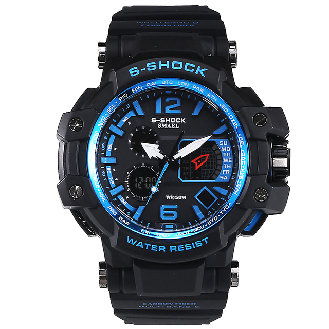 Moda Digital de Reloj S-shock Hombres Deportes LED WatchesOutdoor Impermeable Escalada de Goma Ejército G Estilo Reloj Militar Reloj Hombre