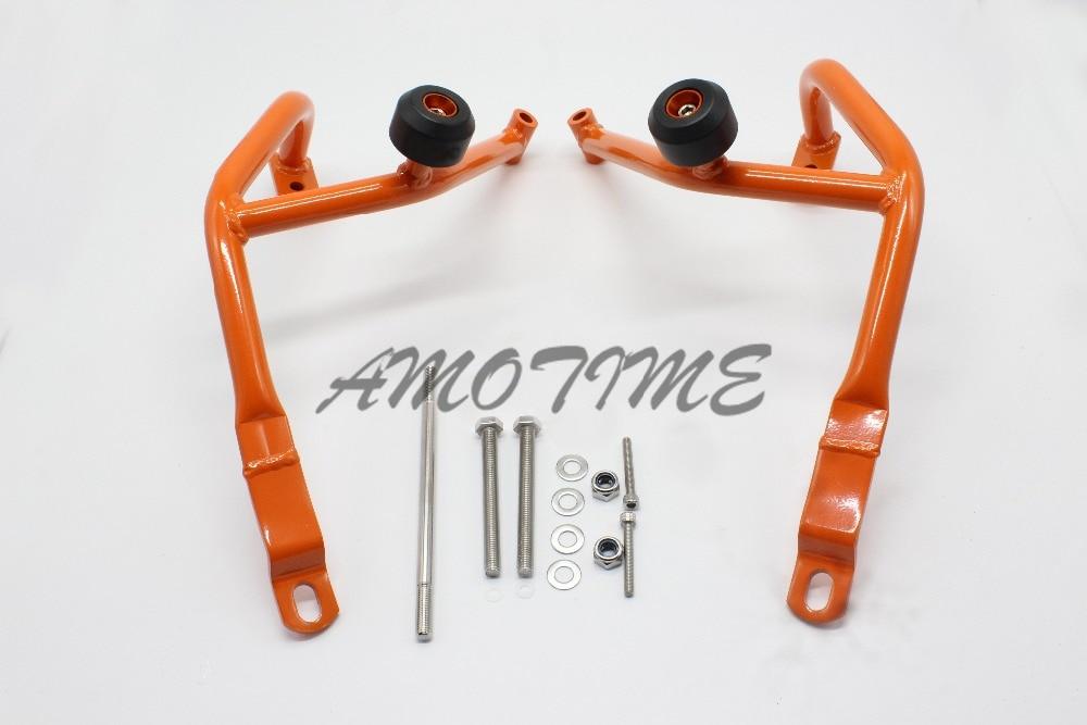 Motorcycle Crash Bars Frame Protector Protection Guard For KTM Duke 390/ KTM DUKE 200 Orange Color