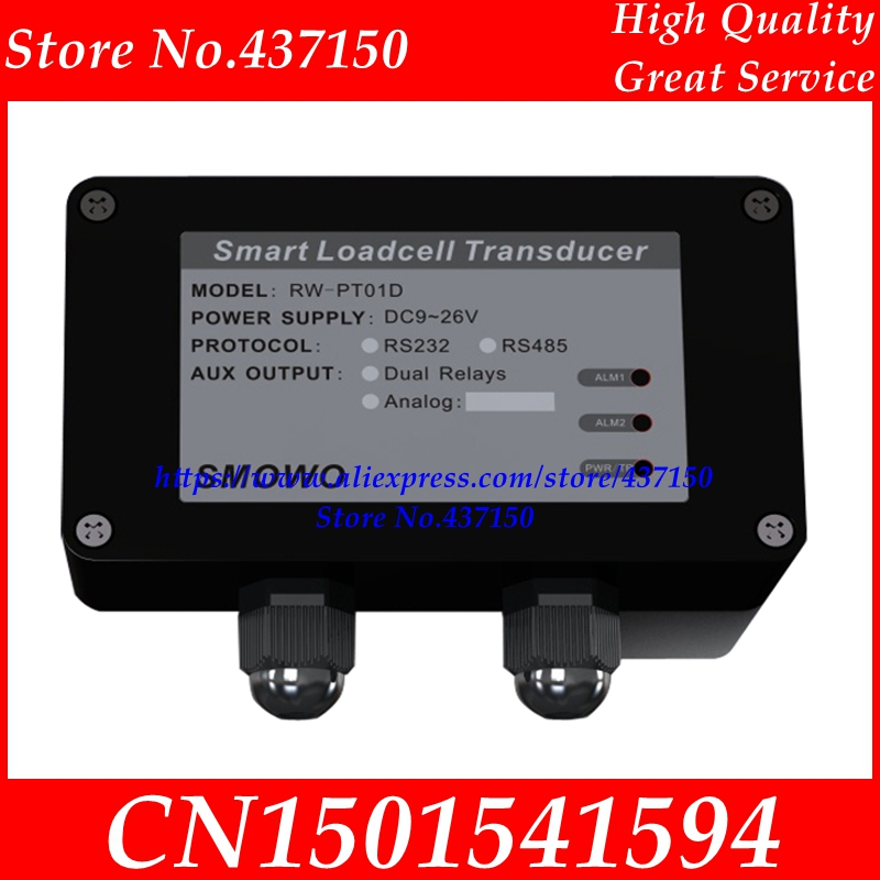 high accuracy load cell amplifier / load cell transmitter RS485 RS232  weighing sensor ModBus digital transmitter RW PT01D-in Sensors from Electronic Components & Supplies    1