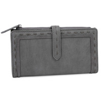 PU Leather Stitch Edge Style Women Long Wallet Leather Long Wallet Design Hand Bags For Women