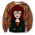 New Fashion Mens/Womens Cartoon Daria Morgendorffer 3D Print Sweatshirt S M L XL XXL 3XL 4XL 5XL