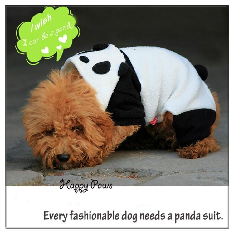 fashion pet dog panda hoodie costume clothes halloween necessary
