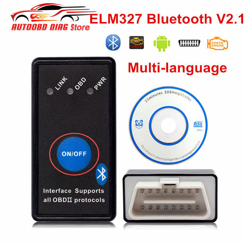 Super Mini ELM327 V2.1 Bluetooth ELM327 OBD2 outil de Diagnostic CAN-BUS Scanner automatique ELM327 avec commutateur ELM-327 lecteur de Code
