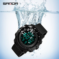 New Sanda Digital Watch LED S SHOCK Military Wristwatches Students Waterproof Electronic Watch Male Clock relogio masculino