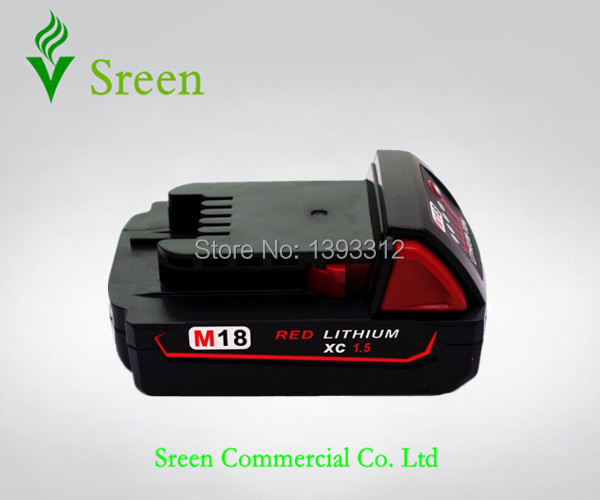 New 1500mAh 18V Rechargeable Power Tool Lithium ion Battery Replacement for Milwaukee M18 XC 48-11-1815 Cordless Drill Battery стоимость