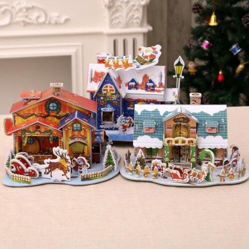 Christmas Mini House Baby Kids Diy Home Decor Xmas Tree Model