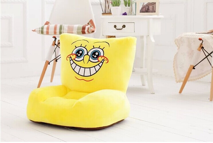 plush Spongebob sofa toy lovely creative cartoon Spongebob sofa doll gift about 54x30x10cm 0389