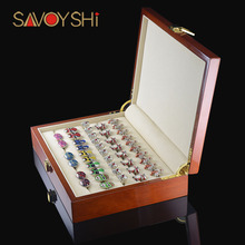 High Quanlity Wood Storage Box New Red Box With Environmental protection Flannelette Fashion Display Gift Boxes