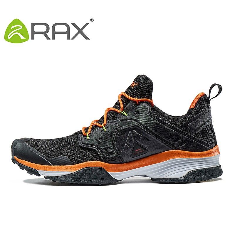 RAX hommes chaussures de randonnée d'hiver en plein air respirant maille chaussures de montagne avec semelle antidérapante Cusioning EVA chaussures de Trekking pour les femmes