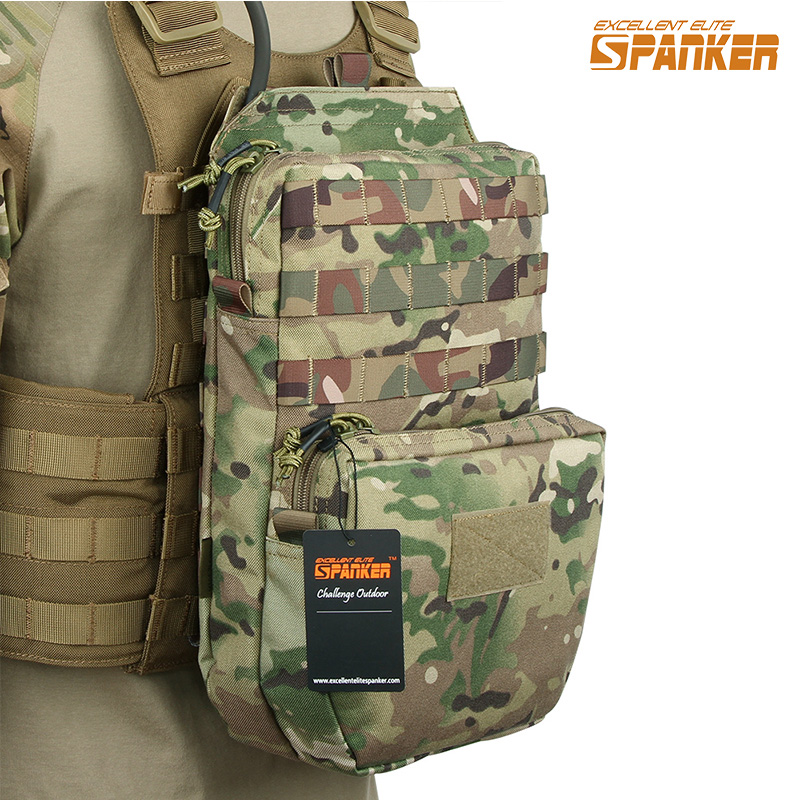 EXCELLENT ELITE SPANKER Outdoor Tactical Molle Nylon Hydration Bag Hunting Camo Bags Military Army Combat Vest Hydration Pouch excellent elite spanker outdoor military waterproof travel backpack army tactical hiking nylon bag molle hunting sport backpack