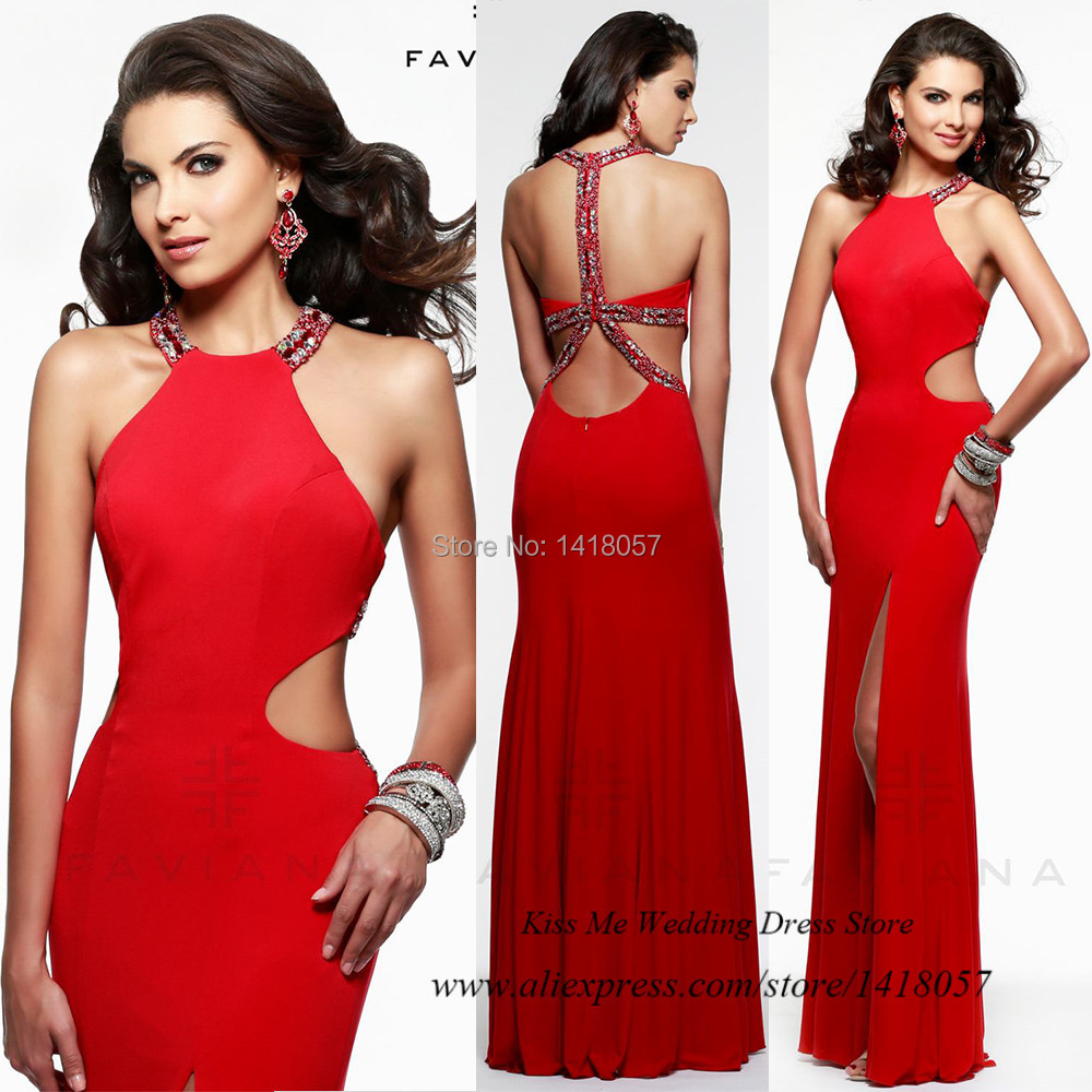 Alta Costura Vestidos De Baile Vermelho Backless Sereia