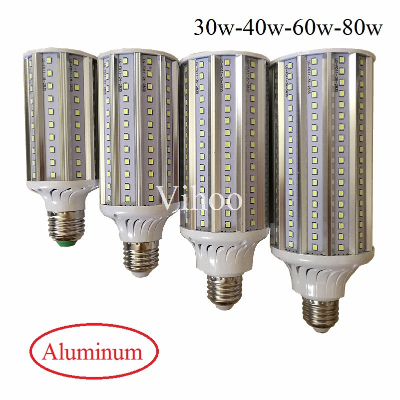 30W 40W 60W 80W Energy Saving 2835 High Power Corn Bulb Aluminum Lamp E27 E40 LED Street Spot Light 110V 220V Lampada Lighting