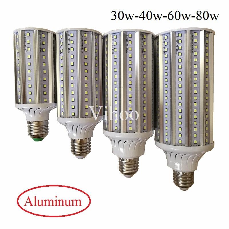 30W 40W 60W 80W Energy Saving 2835 High Power Corn Bulb Aluminum Lamp E27 E40 LED Street Spot Light 110V 220V Lampada Lighting