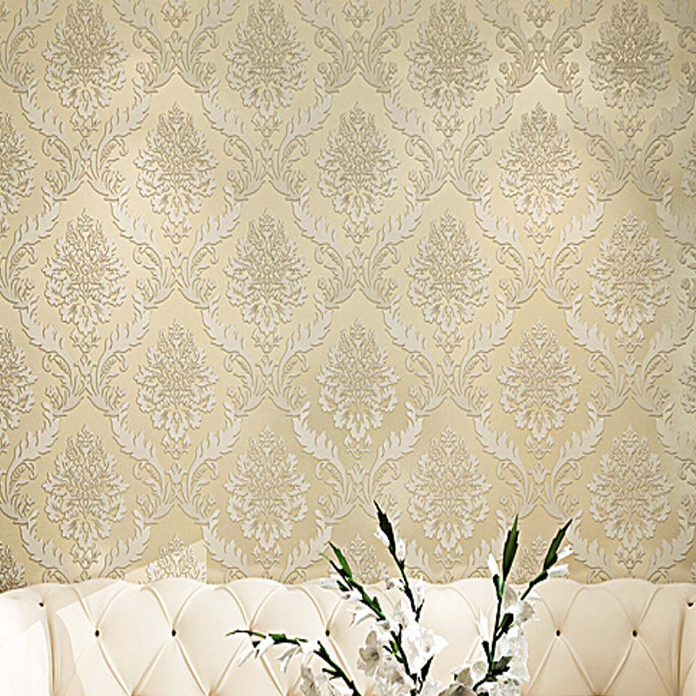 3d damask wallpaper wall paper europe vintage luxury for D wall wallpaper