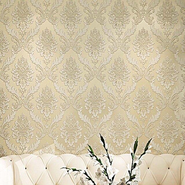 Perfekt 3D Damast Tapete Tapeten Europa Vintage Luxus Tapeten Für Wohnzimmer  Schlafzimmer Wandverkleidung Lila Wandmalereien
