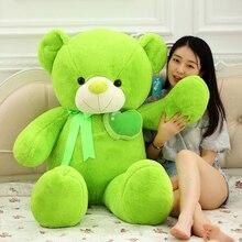 huge 135cm fruit apple green teddy bear plush toy doll soft hugging pillow Christmas gift w0349