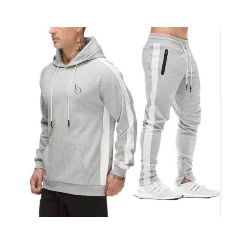 Sportswear Pantalon Survêtements c4 Bodybuilding Homme Ensemble C1 Hommes Capuche Des Nouveau c2 c3 Costumes À 2018 Mode Ensembles Outwear De Décontracté wpCqn4IxO