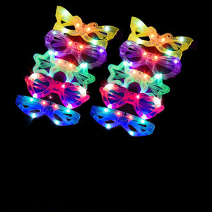 10pcs Led Glasses for Party Glow in The Dark Toys Supplies Christmas Decorative Lighting Classic Gift Toys for Kids