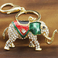 Lucky Elephant Rhinestone Crystal Keyring Keychains For Car  HandBag Pendant Purse Bag Buckle Gift Key Holder K202