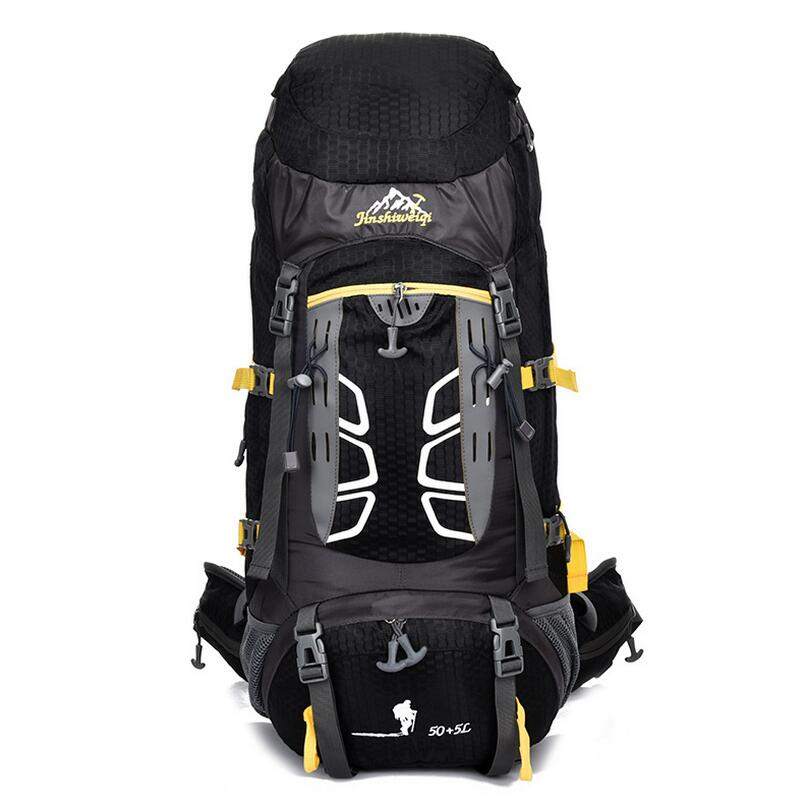 50+5L Outdoor sports bag waterproof travel backpack mountaineering bag camping hiking backpack rucksack lemochic high 65l outdoor mountaineering bag waterproof sport travel backpack camping hiking shiralee luggage canvas rucksack