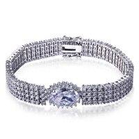 Nieuwe Collectie Unieke Luxe armband voor vrouwen Top kwaliteit bruids armbanden crystal cubic zirkoon Pulseras mujer moda 2017