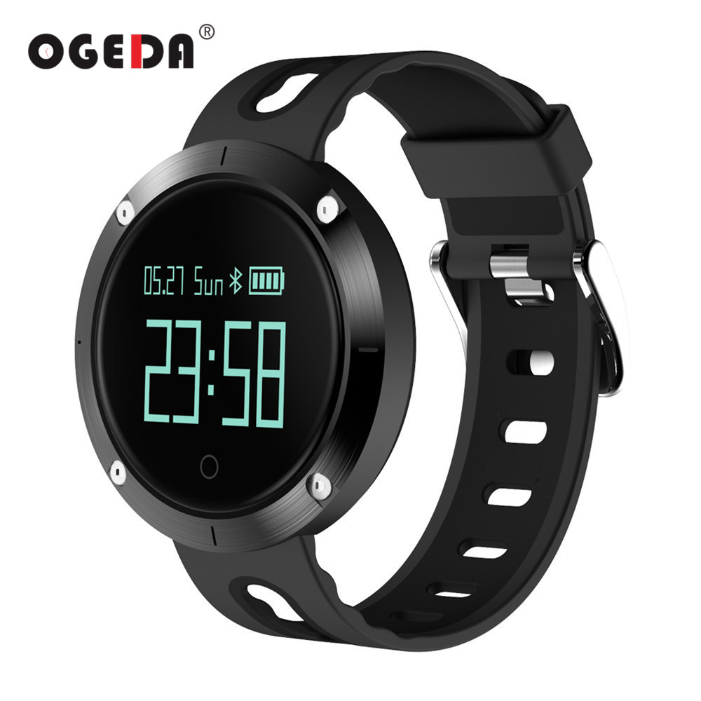 OGEDA Smart Watch DM58 Men Bluetooth Heart Rate Wristband With Blood Pressure Monitor Fitness Tracker Sports Band Smart Watch ezon gps hrm heart rate monitor sports hiking training fitness watch calories pedometer bluetooth 4 0 smart sports watch t033
