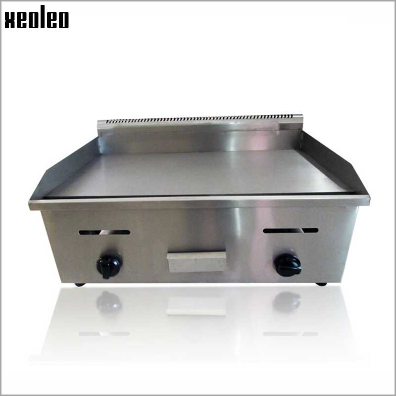 XEOLEO Gas Teppanyaki machine Commercial LPG Griddle 7mm thick Flat pan griddle Pancakes steak Dorayaki machine BBQ Grill commercial kitchen equipment stainless steel flat plate gas grill griddle for sale teppanyaki griddle machine
