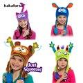 Moda Inverno Crianças Fio de Lã Dança Chapéus Americano Dos Desenhos Animados Cap Bonito Fun Kids Chapéu de Festa de Natal Meninas para o Natal