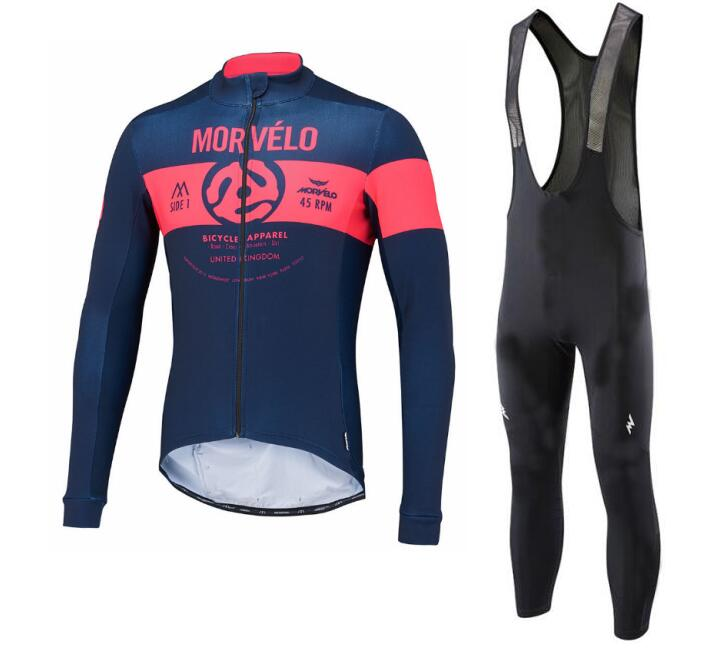 New morvelo Team 2018 Sportswear long Sleeve cycling jersey Breathable shirts Bicycle bike MTB Ciclismo cycle clothing bib Pants cheji team pro team sportswear long sleeve ropa ciclismo cycling jersey bicycle bike mtb cycle clothing 6d padded pants sets