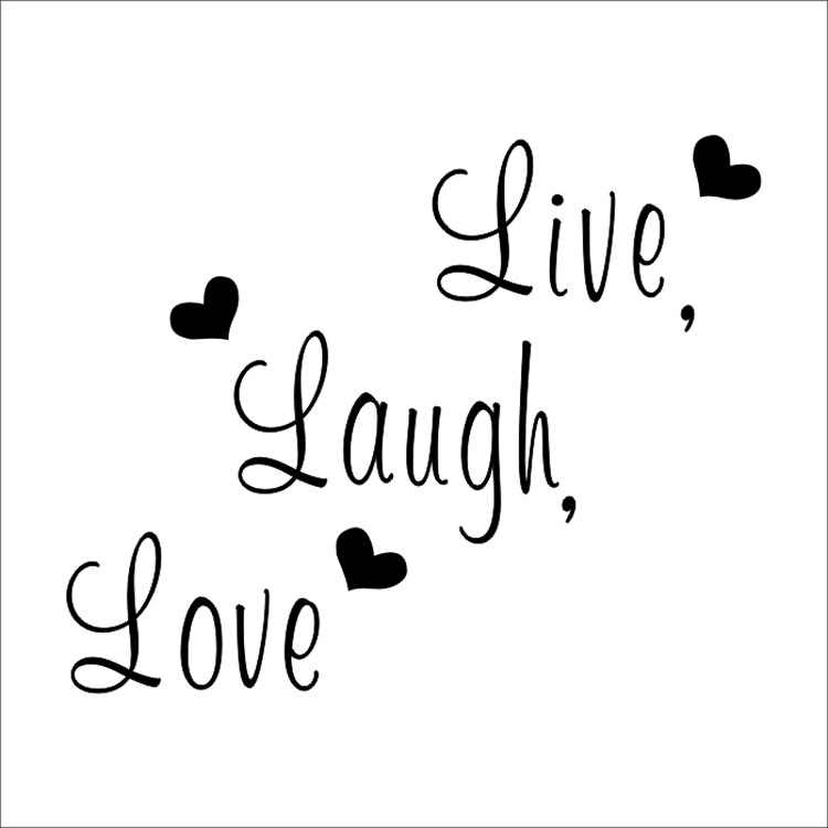 Live Laugh Love Quote Wall Stickers Home Decor Art Decal ...