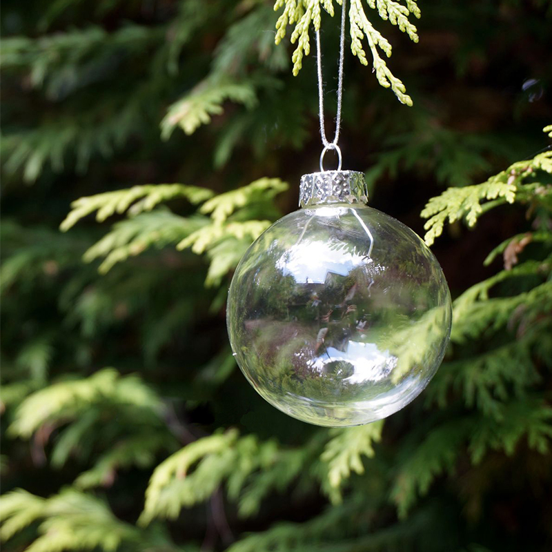 6pcs/lot Christmas Glass ball Clear baubles Ornaments Decorations ...