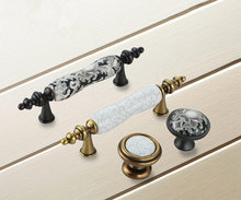 3''Ceramic Knobs Dresser Pulls Drawer Pull Knob Handles Black White / Antique Bronze Rustic Kitchen Cabinet Door Pull Handle 2 5 5 unique white ceramic door handles pulls antique bronze drawer knobs dresser handles cupboard pull kitchen cabinet knob