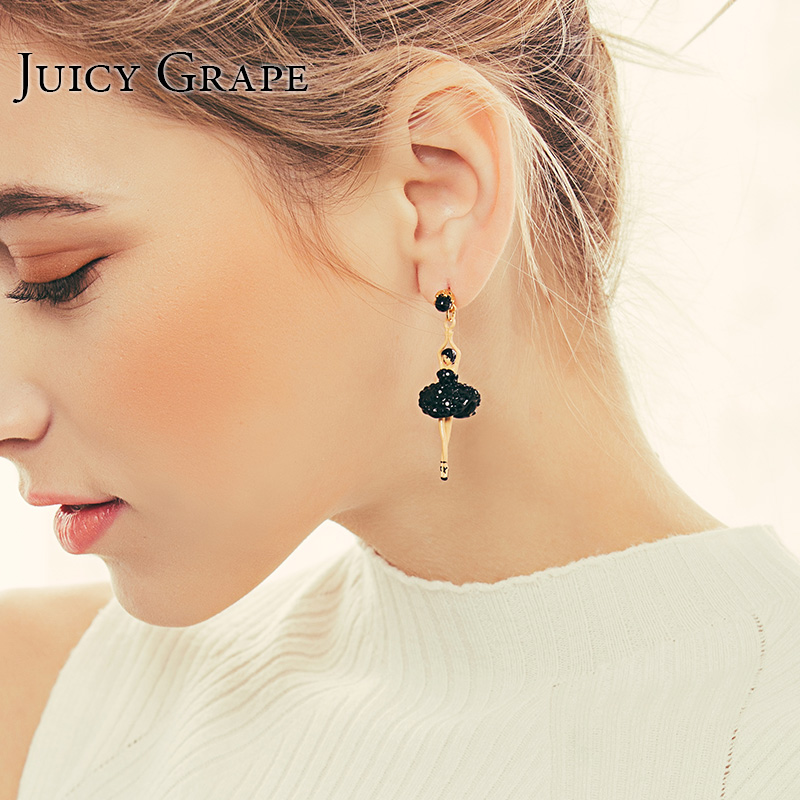 Juicy Grape Handmade Plated Noble jewelry Ballet Dancing Girl Earrings Fashion Jewelry for Girl GiftJuicy Grape Handmade Plated Noble jewelry Ballet Dancing Girl Earrings Fashion Jewelry for Girl Gift